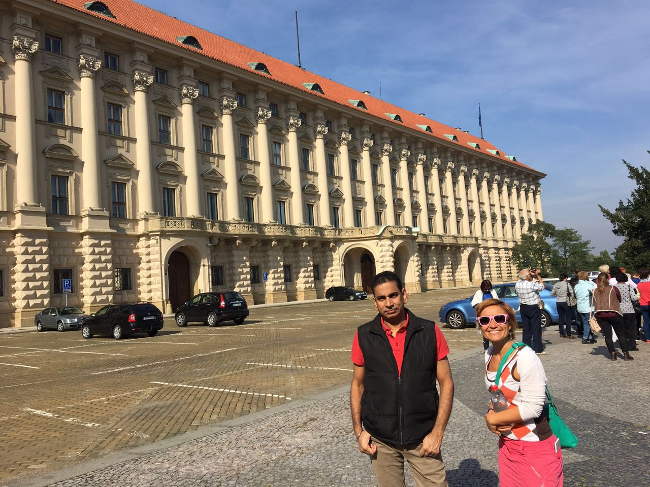 Me & my client in front of Černín Palace
